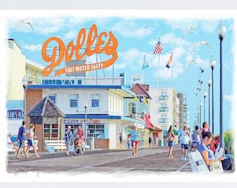 Rehoboth Beach Dolles, Delaware, Boardwalk, Coastal Art, Delaware Wall Art, Dolles Candy, Rehoboth Beach