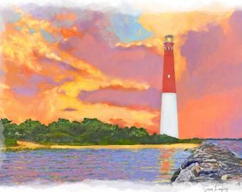 LBI, Long Beach Island, Barnegat Lighthouse, Jersey Shore, Viking Village, LBI NJ Art by Susan Thornberg