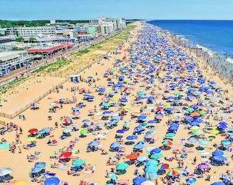 Aerial Beach Umbrellas 2, Aerial Art, Rehoboth Beach, Delaware, Ocean City, Maryland, Coastal Art, Drone Art, Susan Thornberg Art