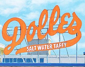 Dolles Bookmark by Rehoboth Beach Artist, Rehoboth Beach Delaware, Ocean City, Maryland, Dolles Candy Susan Thornberg