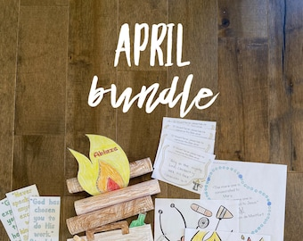 APRIL BUNDLE lazy liturgical living activity sheets coloring pages for kids adults pdf homeschool printables curriculum catholic