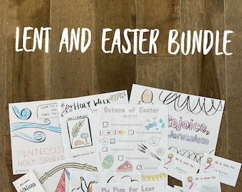 LENT EASTER BUNDLE lazy liturgical living activity sheets coloring pages for kids adults pdf homeschool printables curriculum catholic