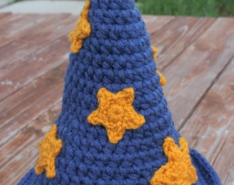 Crocheted Wizard Hat- HAT ONLY- Made to Order- Any Size