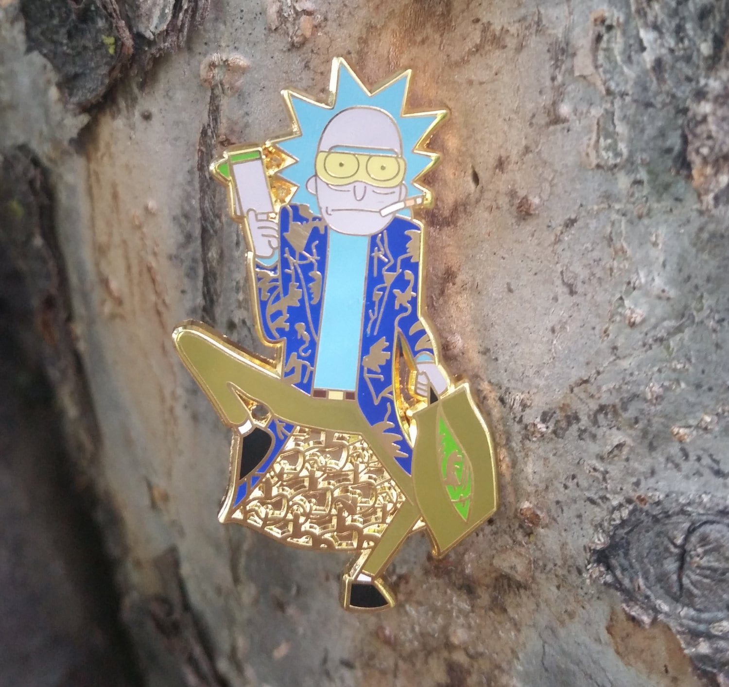 Rick and Morty Pin Hunter S Thompson HST