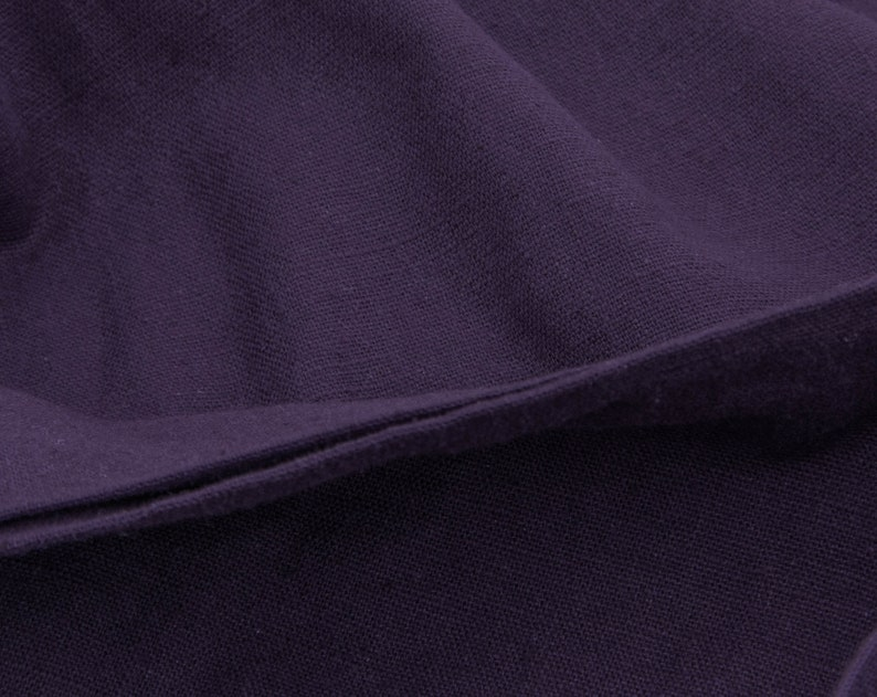 High Quality 3 Yards of Vintage 60 Woven Cotton Fabric Medium Weight Apparel Sewing Rich Dark GrapePurple Color Crafts 4461F