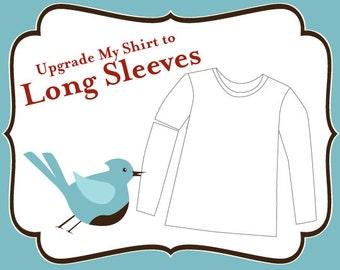 Addon Upgrade to Long Sleeve Crew Neck Shirt