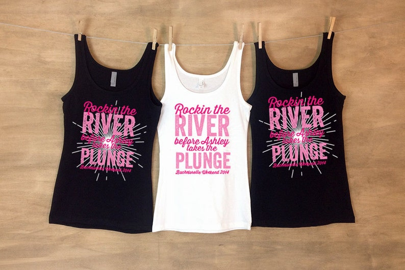 37d061c0 Bachelorette Party Tanks Rocking the River Before She takes | Etsy