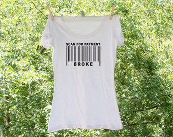 Mother of the Bride Scan For Payment humorous bridal shirt - MOB