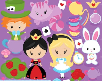 20FOR20 - Alice in Wonderland Clipart and Vectors