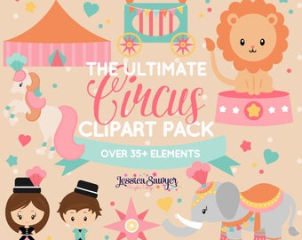 c91908f9b0e59 INSTANT DOWNLOAD - circus clipart for personal and commercial use
