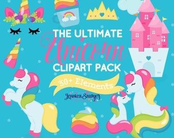 20FOR20, unicorn clipart for planner stickers, crafts, and projects