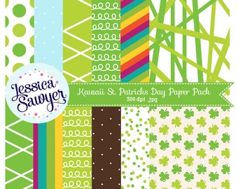 INSTANT DOWNLOAD, st patricks day digital paper for personal and commercial use