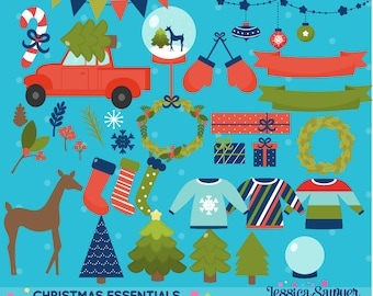 INSTANT DOWNLOAD - Christmas Clipart or Christmas Vectors for personal and commercial use