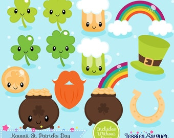 20FOR20 - Kawaii St. Patricks Day Clipart and Vectors for personal and commercial use