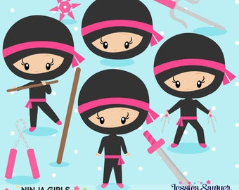 20FOR20 - Girls Ninja Clipart and Vectors for personal and commercial use