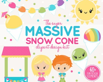 20FOR20 - snowcone clipart and snowball stand maker