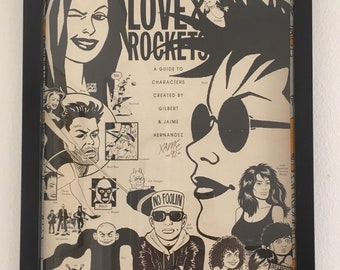 ccbcea6b1d5 Love and Rockets Autographed Poster