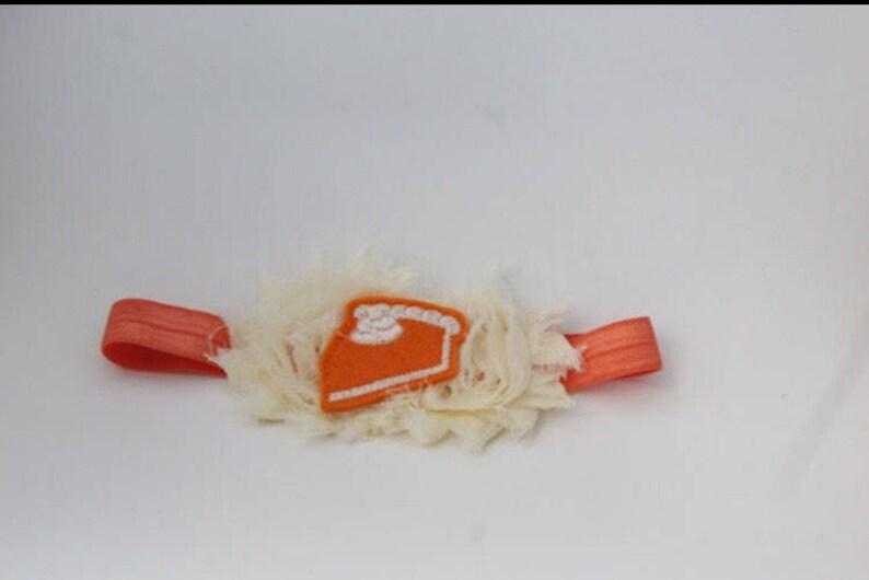 Thanksgiving Headband Pumpkin Pie Headband Baby Headband Fall Themed Headband Multiple Sizes