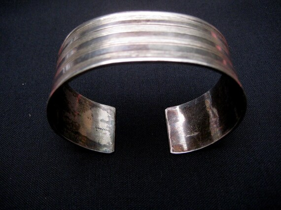 Vintage Tribal Bracelet Cuff.  Antique Silver Indi