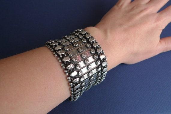 Antique Large Tribal Bracelet. Vintage Silver Brac
