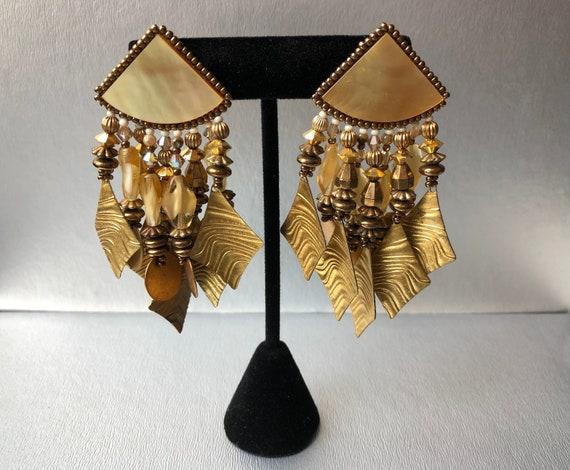 Vintage Chipita Pierced Earrings Statement Earring