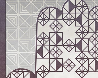 Printed Ketubah - Geometric Hamsa - Modern Jewish Wedding - Eco-friendly