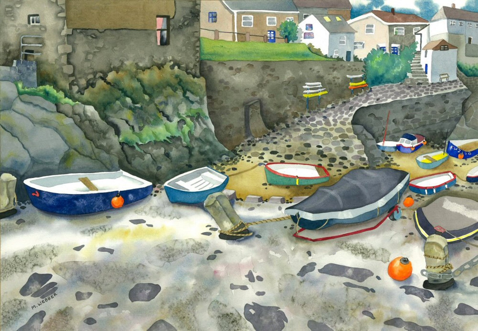 Mevagissey Harbour, Cornwall, 1924-1926 Giclee Print