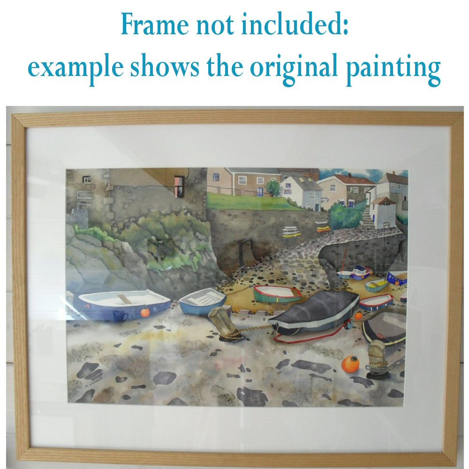 Little boats in Mousehole harbour - Charlie Davies Designs
