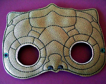 Child's Mask -  Dinosaur - Reptile - choice of colors - Olive Sage Green - Dark Green