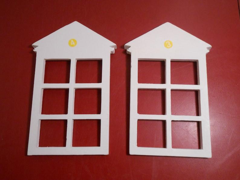 Casa Muñeca Miniatura Ventanas de apertura de madera francés accesorios de bricolaje