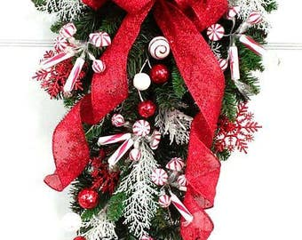 Winter Swag Wreath Holiday Centerpiece Mantle Decoration Etsy