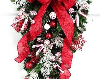 Huge Limited Edition Raz Deco Mesh Christmas Wreath Red