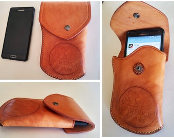Phone Holster Leather Heavy Duty Custom Personalized Orders Welcome iPhone Google Pixel Samsung Galaxy Android Apple