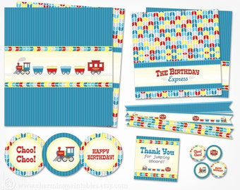 Train Party Decorations Printable