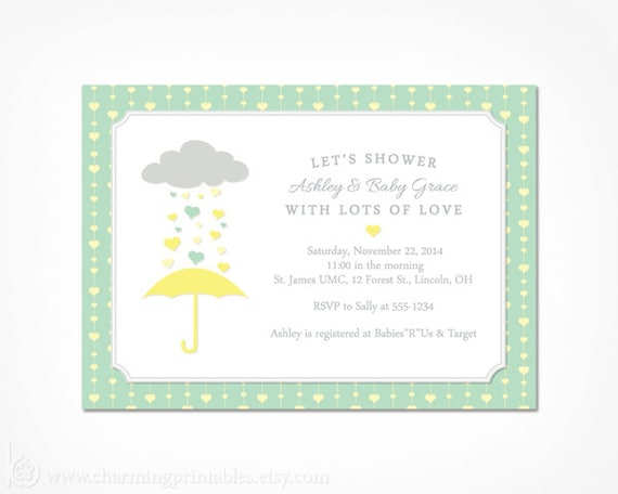 Baby shower invitation neutral printable gender neutral yellow and il570xn filmwisefo