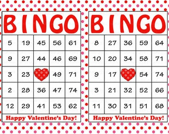 photo about Free Printable Valentine Bingo Cards referred to as Home made valentines bingo Etsy