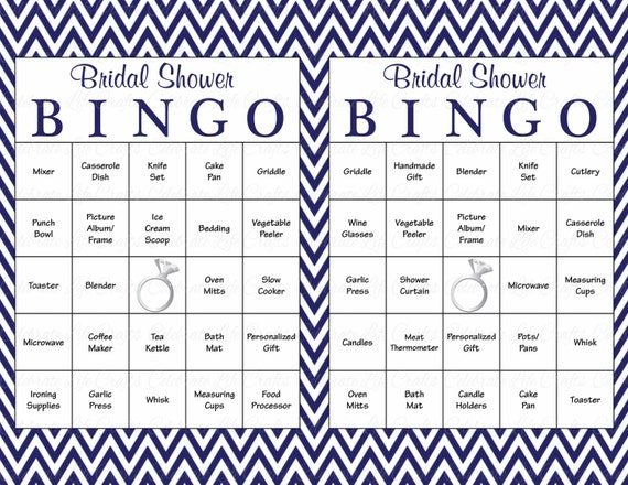 photograph regarding Printable Bridal Bingo known as 60 Bridal Bingo Playing cards - Blank 60 Prefilled Playing cards