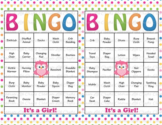 It is an image of Sizzling Printable Baby Shower Bingo Cards