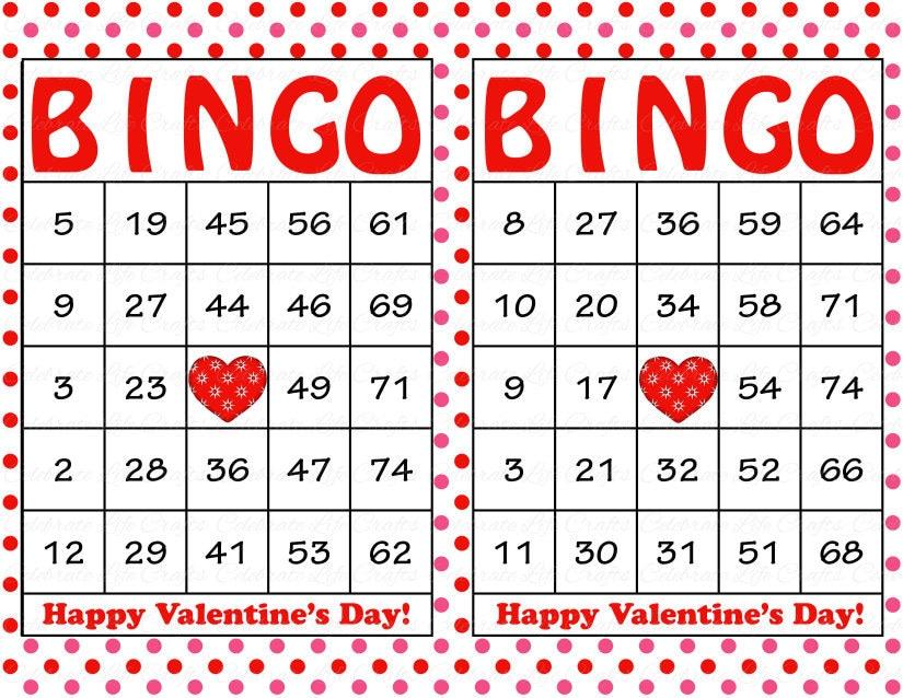 100 valentines bingo cards printable valentine bingo cards