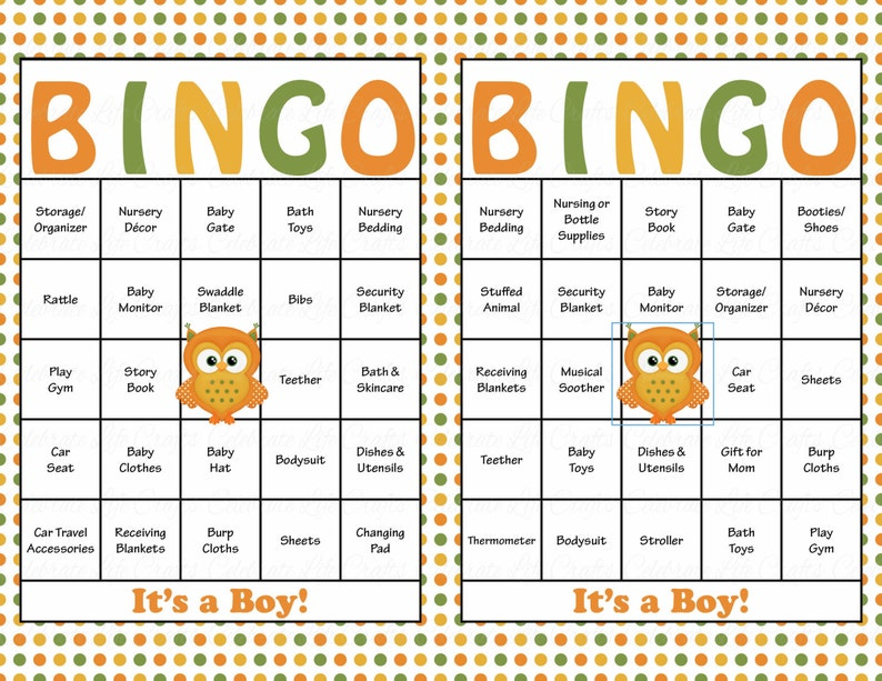 picture regarding Fall Bingo Printable called 60 Slide Owl Kid Shower Bingo Playing cards - Prefilled Bingo Playing cards - Boy Kid Shower Sport - Slide Boy or girl Shower - Autumn - Printable Obtain - B2013