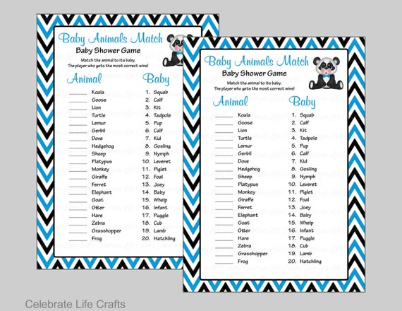 graphic relating to Baby Animal Match Game Printable named Little one Pets Activity Match - Printable Child Shower Sport - Kid