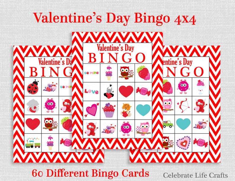 image regarding Printable Valentine Bingo Cards named Valentine Bingo Recreation - 60 Printable Valentines Bingo Playing cards - Cost-free Valentine Want Bag Toppers - Immediate Down load - Little ones Clroom Social gathering