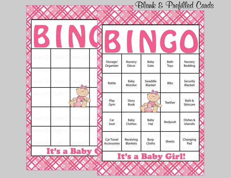 Top 60 baby douche Bingo kaarten 60 ingevulde bingokaarten | Etsy @PY86