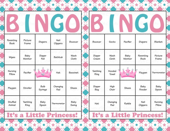photograph about Baby Shower Bingo Cards Printable named 60 Child Shower Bingo Playing cards - Printable Child Female - Prompt Obtain- Red Blue Tiara Crown Child Shower Bingo - Princess Topic G013