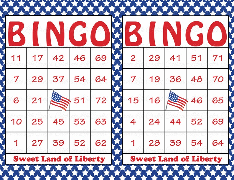 photograph relating to 4th of July Trivia Printable identify 60 Printable Patriotic Bingo Playing cards - Freedom Working day Bash Sport, Military services, 4th of July, Memorial Working day, Veterans Working day United states1001