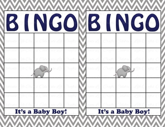 Unusual image inside baby shower bingo cards printable