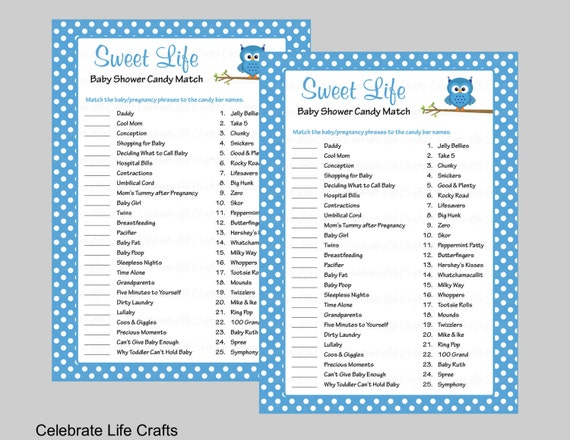 Resource image throughout printable baby shower games with answers