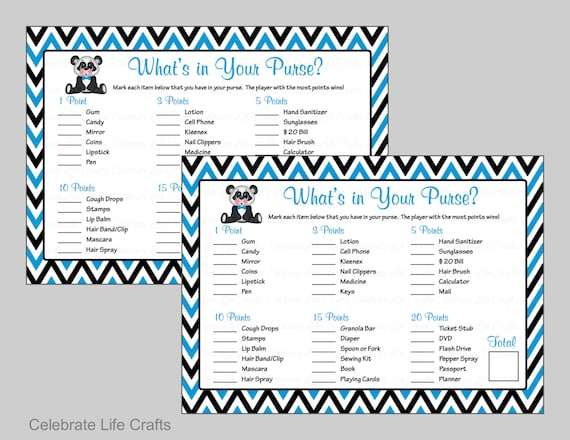 photo regarding What's in Your Purse Game Printable titled Whats within just Your Purse Match Child Shower Video game - Printable Youngster