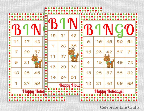 photograph regarding Holiday Bingo Printable identified as 100 Rudolph Xmas Bingo Playing cards - Do-it-yourself Printable Match for
