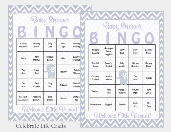 photo relating to Printable Bingo Chips titled 100 Elephant Child Shower Bingo Playing cards - 100 Printable Bingo